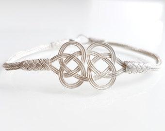 Bracelet Silver v Braided 925