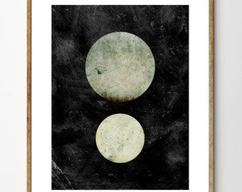 Space Art, Space Poster, Astronomy Print, Planets, Collage Art Print, Minimalist art, Vintage Art - Floating In Space