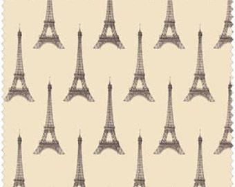 I Dream of Paris by Windham Fabrics - Pela Studio by Wild Apple Eiffel Tower on Tan Quilt Fabric