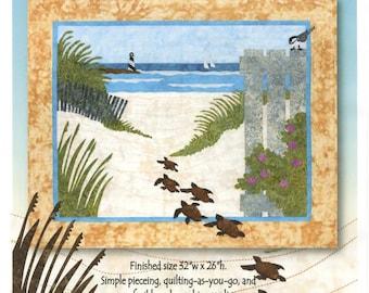 Turtle Beach Fusible Applique Sue Pritt Quilt as You Go Pattern