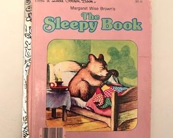 Vintage The Sleepy Book Little Golden Book