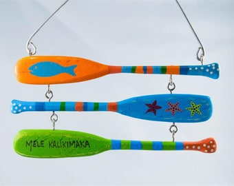 Three Paddles Mele Kalikimaka Christmas Ornament