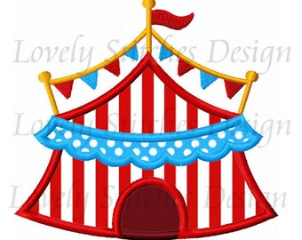 Circus Tent  Applique Machine Embroidery Design NO:0587