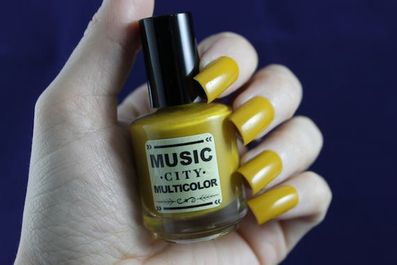 Golden Oldies- Music City Multicolor mustard yellow nail polish Nashville