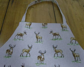 Stag and Deer Apron