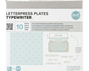 Typewriter Letterpress Plates // Alphabet // Printing Press
