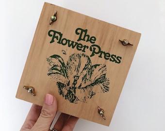 Vintage flower press / flower and leaf press /