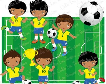 Football Party clipart , soccer party, Football Soccer clip art /Boy sport party invitation / (CG037)/ INSTANT DOWNLOAD