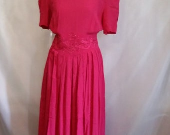 50% OFF Memorial Day Sale Vintage 80s dress dressy pink dress Karin Stevens vintage clothing size 10