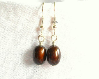 Brown Mystic Earrings Choice of Surgical Steel French Hooks