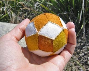 Rhombic Triacontahedron Ball, Wool Felt