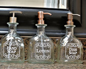Patron Pump Soap Dispenser Gift / Patron Bottle / Dish Soap / Tequila Gifts / Recycled Patron / Glass Soap Dispensers / Bathroom Kitchen