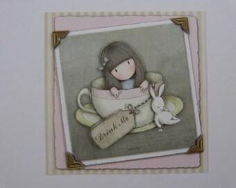 Paper material girl 3D cardmaking