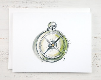 Compass Note Card