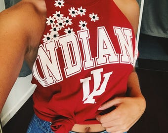 ANY SCHOOL** College Braided Back Flower Halter Top
