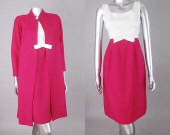 vintage 60s silk suit | vintage dress and coat  suit | silk 60s suit