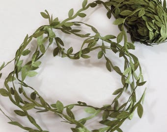 5 Yards Leaf Vine Ribbon, DIY Leaf Headband, Leaf Balloon Tail, DIY Leaf Crown, DIY Leaf Napkin Rings, Leaves Garland, Festival Crown