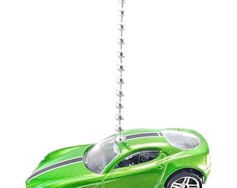 Alfa Romeo 8C Competizione - Green Diecast Ceiling Light Fan Pull Ornament - Hot Wheels Model