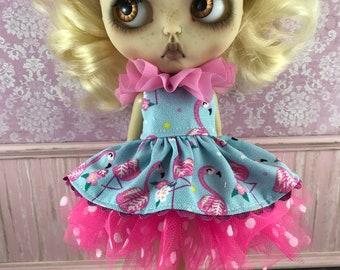 Blythe Tutu Dress Set - Flamingos