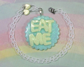 Fairy Kei Necklace, Pop Kei Necklace, Decora Necklace, Alice in Wonderland Necklace, Eat Me Necklace, Fairy Tale Necklace, Magical Necklace