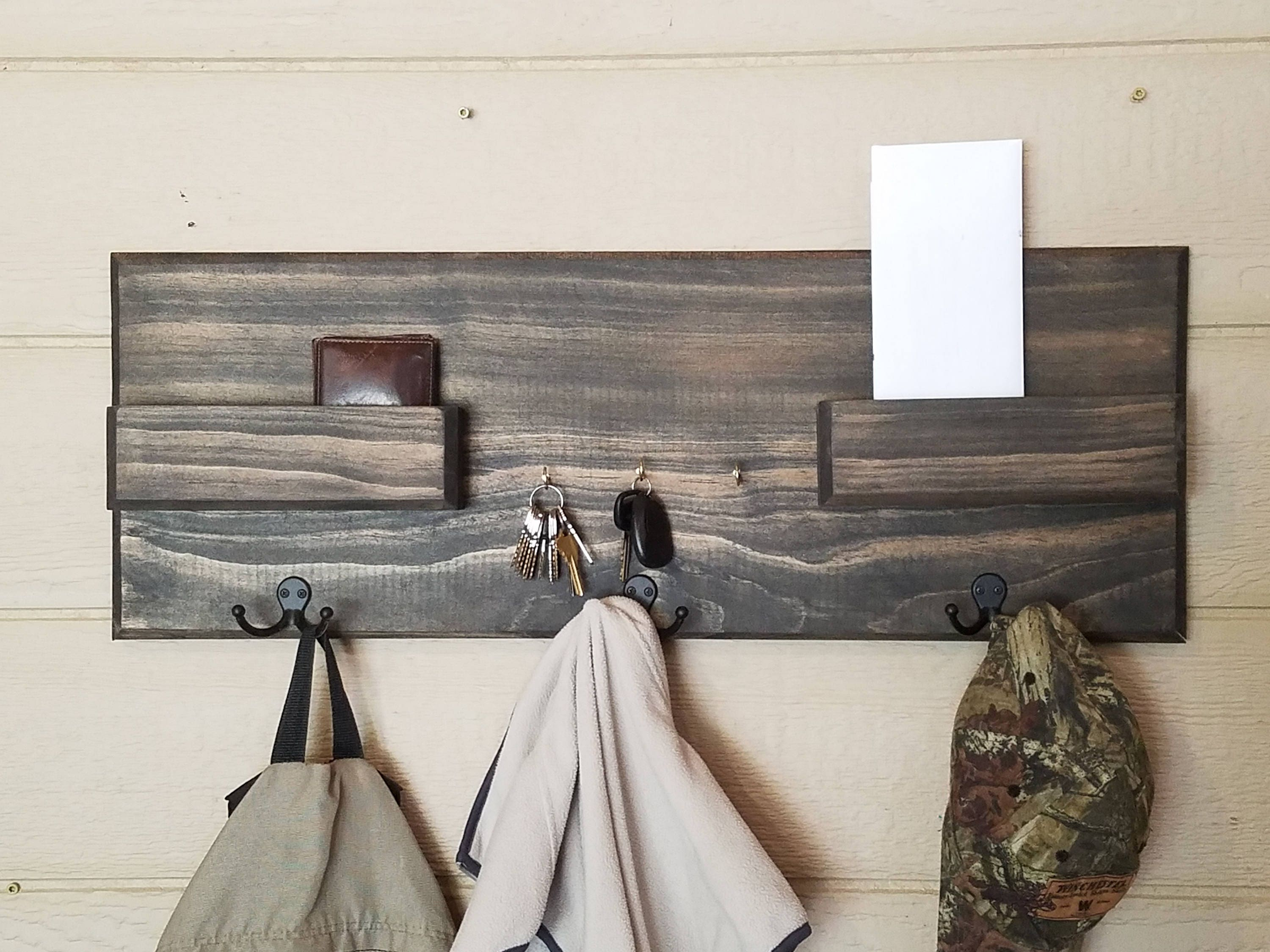 made holder pallet wall rack mounted from out pinterest mail crafts pin key diy a