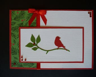 Example card with bird on a branch