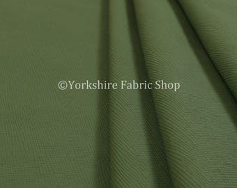 Soft Faux Leather In Plain Textured Matt Finish Green Colour Upholstery Fabric  - Sold By The 10 Metre