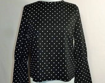Pagoda sleeves Bohemian Sanlivine polka dot cotton bustier blouse