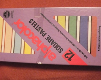 Color Square Pastels 12 Drawing Artist New Old Stock