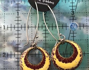 Enamel and Sterling Silver handmade Earrings