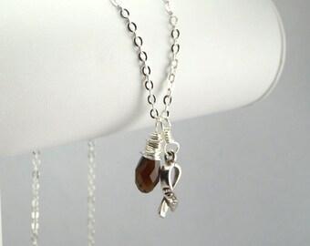 Brown Awareness Necklace