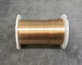 FULL SPOOL - 20 Gauge Beadsmith Brand Tarnish Resistant Rose Gold Craft Wire - 15 Yards (45 Feet) - Great for Wire Wrapped Jewelry!
