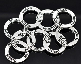 Music- Message Ring/Connector - Set of 5 - #HK1004