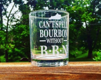 Kentucky Bourbon rocks glass BBN