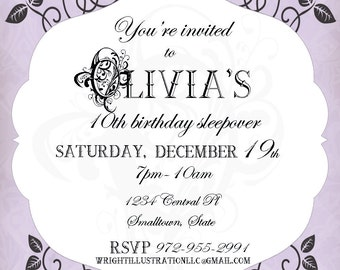 Custom birthday Invitations!