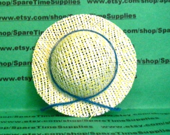 "Doll Hat Woven - cream - 3"" - 1 pc - Fibre Craft - #7384"