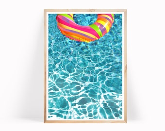 Pool Water Print, Pool Water Photo, Summer Decor Digital Print, Water Print, Aqua, Beach Printable Art Prints, Blue Water Print, Water Decor
