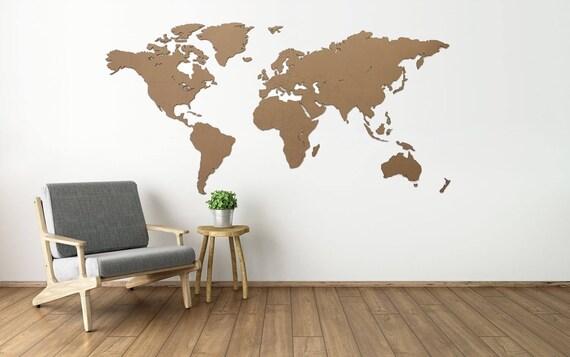 Wall art decoration world map large 6mm corrugated cardboard gumiabroncs Choice Image