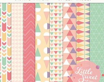Personal & Small Commercial Use // Digital Paper Packs and Digital Scrapbook Paper (DP3)