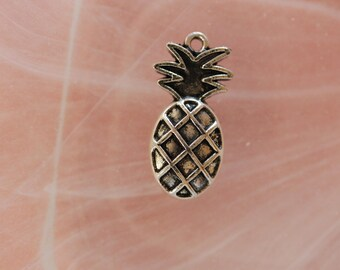 Silver pineapple charm