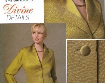Vogue Divine Details V8458 Sewing Pattern for Misses' Jacket - Uncut - Size 6, 8, 10