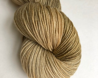 """Hand dyed sock yarn in """"End of theTrail"""" colorway"""