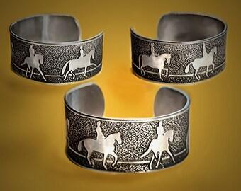 Horse bracelet, Dressage horse movements Cuff Bracelet