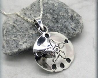 Sand Dollar Necklace, Ocean Necklace, Beach Necklace, Beach Jewelry, Sanddollar Pendant, 925 Sterling Silver, Minimalist, Shell Pendant