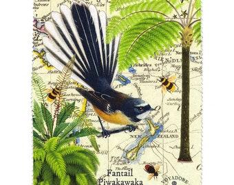 Luxury Lens Cloth: Fantail Bird of New Zealand