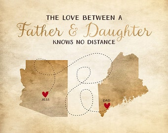 Dad Gift Idea, Custom Gifts for Father, Daughter,Daddy, Long Distance Parent, Father and Daughter, Daddys Girl, Dad, Papa, Grandpa