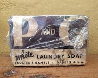 Vintage P and G White Laundry Soap Procter & Gamble Bar Laundry Soap