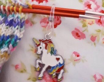 I Believe in Unicorns Knitting Needle Holder - Needle Stopper