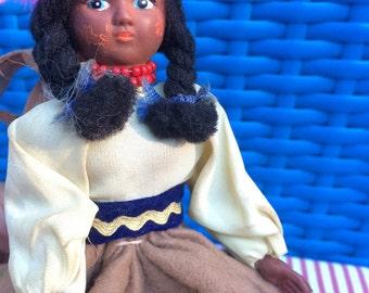 Doll Purse - Native American Girl, Child's Purse with Wrist Strap