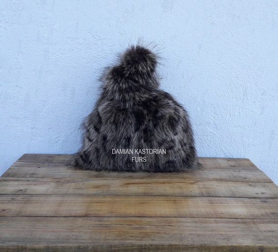 REAL ANIMAL PRINt fUR SAC bAG fULL SkIN /Fur Handbag, Womens Bag, Leather bag, Shoulder Bag Women, Tote Bag, Gift For Her, Handmade
